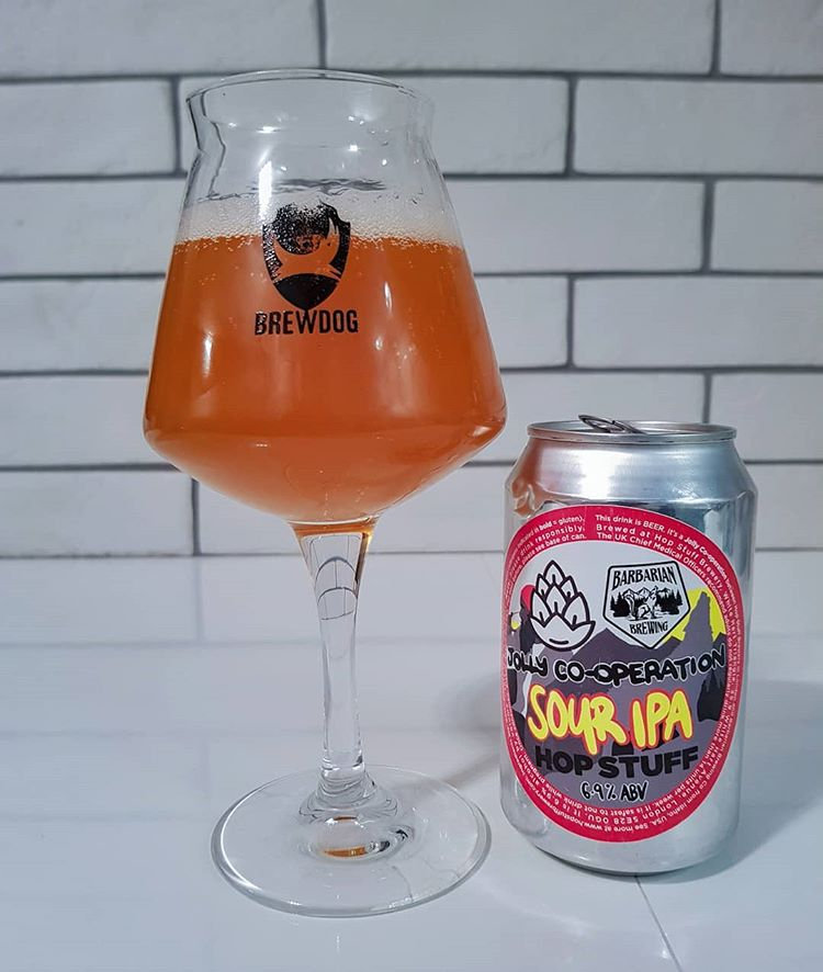 latest craft beer Jolly Cooperation Sour IPA collab @hopstuffbrewery X @barbarianbrewingidaho The @hopstuffbrewery
