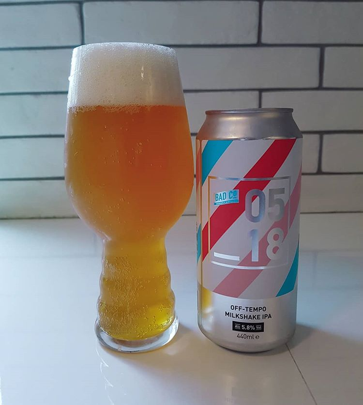 latest craft beer review Off Tempo Milkshake IPA @badcobrewinganddistilling This smooth lactose feel quite