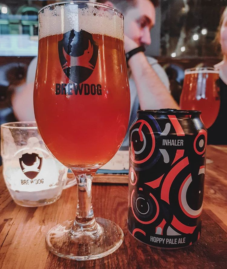 latest craft beer review Trying Inhaler Hoppy Pale Ale @magicrockbrewing whilst @brewdogbristol weekend!Magic Rock