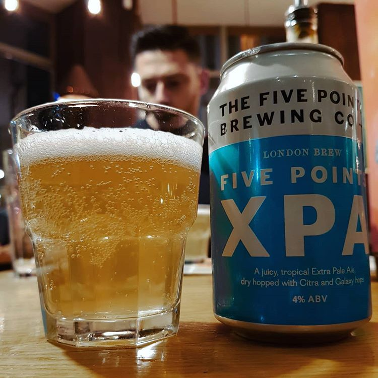 latest craft beer review Enjoying refreshing hoppy XPA @fivepointsbrew.You get exactly says tin this.