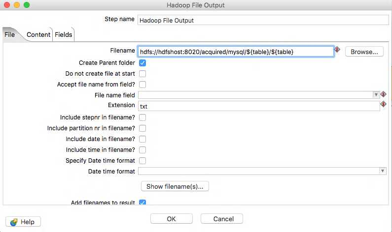 Hadoop File Output