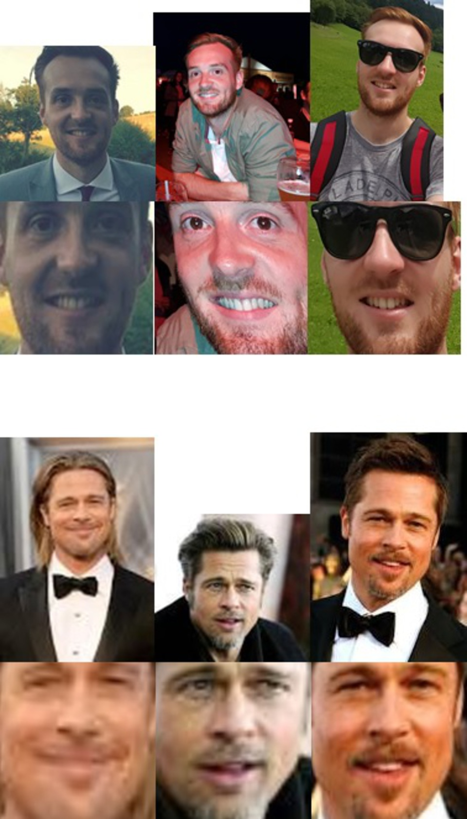 Me and Brad Pitt with Face Skew