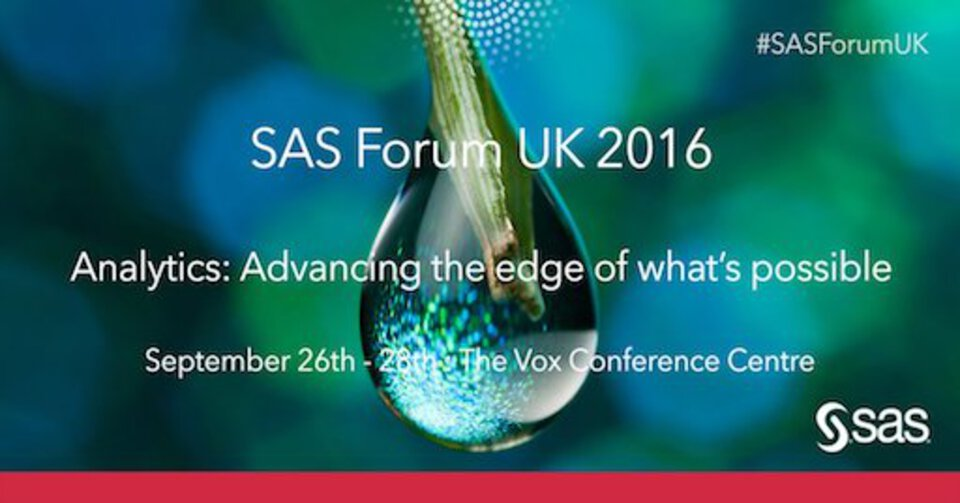 SAS Forum UK 2016 Birmingham
